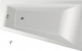Aqualine METUJE akrylátová asymetrická vaňa 160 cm