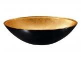 MURANO BLACK-GOLD Retro umývadlo na dosku zlato/čierne sklené 40 cm