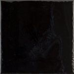 Paradyz TAMOE NERO ONDULATO lesklý obklad 20x20 cm čierna