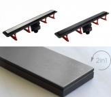 Pestan CONFLUO FRAMELESS LINE podlahový žľab 30-115 cm + rošt čierne sklo alebo oceľ