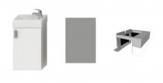 Jika PETIT sada skrinka s umývadielkom 40 cm, zrkadlom a osvetlením biela