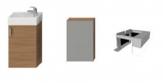 Jika PETIT sada skrinka s umývadielkom 40 cm, zrkadlovou skrinkou a osvetlením čerešňa