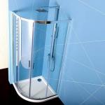 Polysan EASY LINE štvrťkruhový sprchový kút 80/90 cm