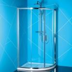 Polysan EASY LINE štvrťkruhový sprchový kút asymetrický 90x80/100x80/120x90 cm