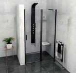 Polysan ZOOM LINE BLACK sprchové dvere 100/120/140 cm čierne