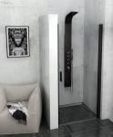Polysan ZOOM LINE BLACK sprchové dvere 80/90 cm čierne