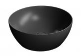 PURA okrúhle umývadlo na dosku 40 cm matná čierna