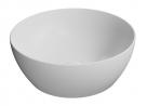 PURA okrúhle umývadlo na dosku 40 cm matná biela