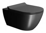 PURA závesné WC Swirlflush matná čierna
