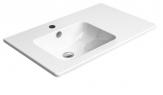PURA keramické umývadlo s odkladacou plochou 80 cm, ExtraGlaze
