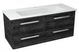PURA umývadlová skrinka 120 cm, graphite line
