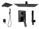 Rhea BLACK čierna podomietková sprchová zostava s batériou