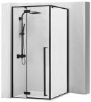 Rhea FARCO industriálny sprchový kút čierny 90x90/80x100 cm