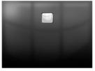 Riho BASEL štvorcová sprchová vanička čierna lesklá 90/100 cm