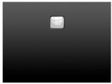 Riho BASEL štvorcová sprchová vanička čierna matná 90/100 cm