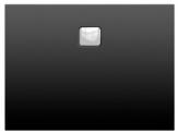 Riho BASEL obdĺžniková sprchová vanička čierna matná 100/120/140 x 90 cm
