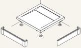 Ronal Sanswiss ILA L-panel pre štvorcovú sprchovú vaničku