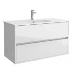 Salgar NOJA skrinka s umývadlom 100 cm lesklá biela