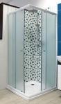 SAM KLASIK štvorcový sprchový kút 80/90 sklo Fabric