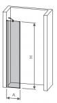 SAM krátka sprchová zástena 30/40/50 cm SamD8140S