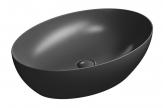 PURA oválne umývadlo na dosku 60 cm matná čierna