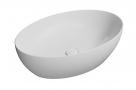 PURA oválne umývadlo na dosku 60 cm matná biela