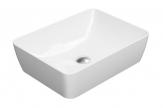 SAND umývadlo na dosku 50 cm lesklá biela