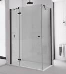 Ronal SanSwiss ANNEA štvorcový/obdĺžnikový sprchový kút 75/80/90/100/110/120 cm čierny