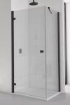 Ronal SanSwiss ANNEA štvorcový/obdĺžnikový sprchový kút 70/75/80/90/100 cm čierny