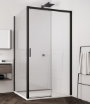 Ronal SanSwiss TOP LINE S štvorcový/obdĺžnikový sprchový kút 100/120/140/160 cm čierny