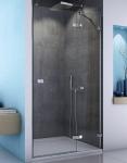 SanSwiss ESCURA sprchové dvere s pevnou časťou 75, 80, 90, 100, 120 cm číre
