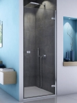 SanSwiss ESCURA sprchové dvere krídlové 70, 75, 80, 90, 100 cm číre