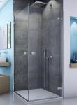 SanSwiss ESCURA štvorcový sprchový kút 75, 80, 90, 100 cm