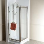Gelco ANTIQUE retro štvorcový sprchový kút bronz 90 cm L
