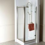 Gelco ANTIQUE retro obdĺžnikový sprchový kút 80x90 bronz P