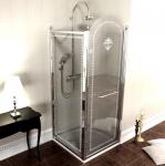 Gelco ANTIQUE retro štvorcový sprchový kút chróm 80/90 cm L