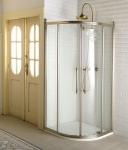 Gelco ANTIQUE retro štvrťkruhový sprchový kút 90 cm bronz