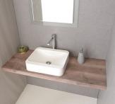 AVICE doska pod umývadlo orech rustik 70-150 cm