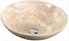 BLOK 1 umývadielko na dosku ohrúhle 40 cm béžový travertín