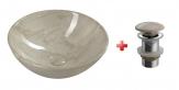 DALMA okrúhle umývadlo na dosku 42 cm béžová