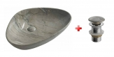 DALMA umývadlo na dosku 60 cm šedá