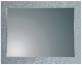 GLAMOUR zrkadlo na dekoračnom skle 100 x 70 cm