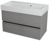 LARGO skrinka s umývadlom 90 cm dub strieborný