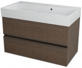 LARGO skrinka s umývadlom 90 cm borovica rustik