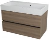 LARGO skrinka s umývadlom 90 cm orech bruno