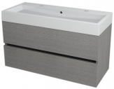 LARGO skrinka s umývadlom 100 cm dub strieborný