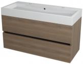 LARGO skrinka s umývadlom 100 cm orech bruno