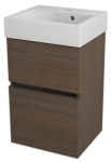LARGO skrinka s umývadlom 40 cm borovica rustik