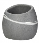LITTLE ROCK pohár tmavý šedý