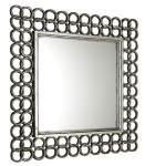 MECHICO retro zrkadlo strieborné